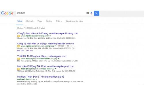 Google thử nghiệm dừng hiển thị quảng cáo bên phải